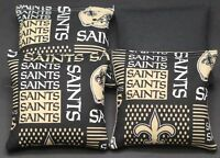 All Weather new Orleans Saints Cornhole Bean Bags Resin Filled Waterproof