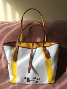 4c7c6b733681e NWT Coach 57076 Market Tote in Canvas With Souvenir Embroidery Chalk ...