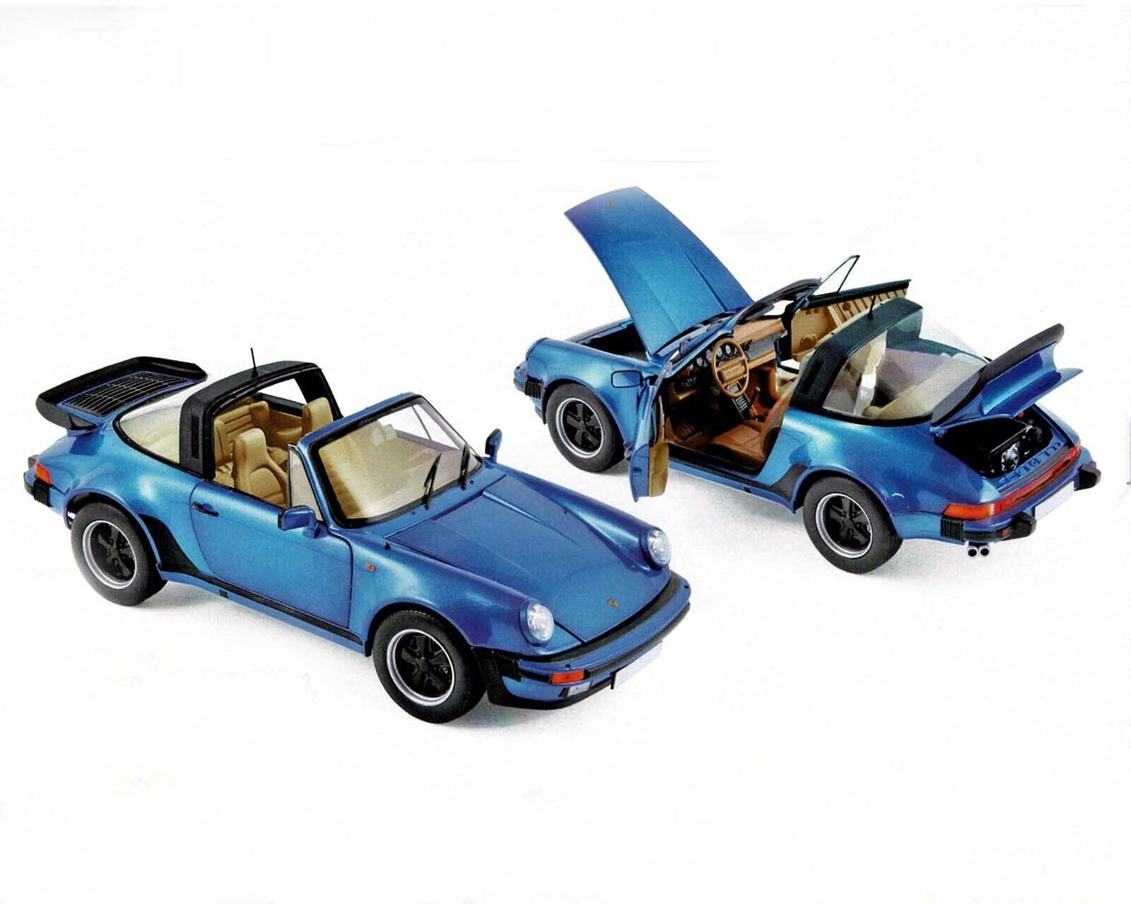 precios razonables Porsche 911 Targa 3,3 - Azul Azul Azul Metálico, 1987 , Norev 1 18  barato y de alta calidad