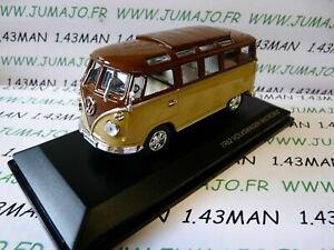 voiture-1-43-ROAD-SIGNATURE-VOLKSWAGEN-kombi-T1-Microbus-1962-marron