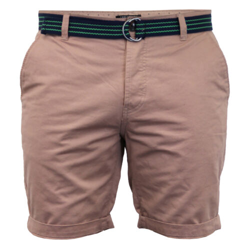 mens chino shorts Threadbare belted Westace pants knee length roll up summer new