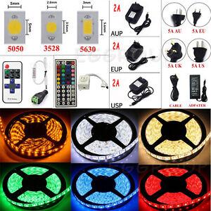 5M-10M-15M-SMD-3528-5050-5630-300LEDs-RGB-White-LED-Strip-Light-12V-Power-Supply