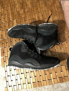 AIR-JORDAN-RETRO-10-STEALTH-black-amp-white-suede-size-10-5-Pre-Owned-310805003