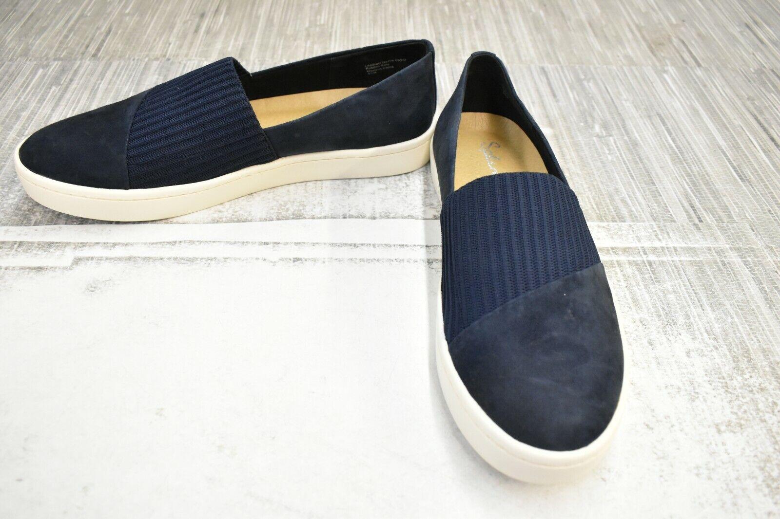 Splendid Nouvel Suede Slip On Sneakers, Women's Size 8.5M, Navy NEW