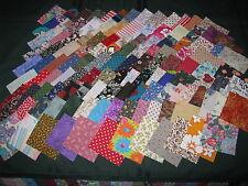 "Assorted Charm Pack 125 Precut Quilt Squares 4"" Fabric Quilt Scraps 100% Cotton"