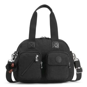 BORSA-KIPLING-DEFEA-UP-KI2500-TRUE-BLACK-J99-TRACOLLA-NUOVA-SCONTATA