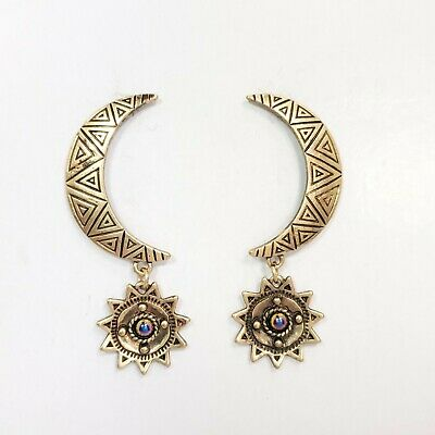 2 Pieces Gold Post Earrings Round Post Earring Polished Gold-Plated Jewelry Making E0451-PG