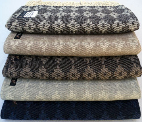 100% Baby Alpaca Throw Afghan Blanket, Our Inca Cross Geometric Throw