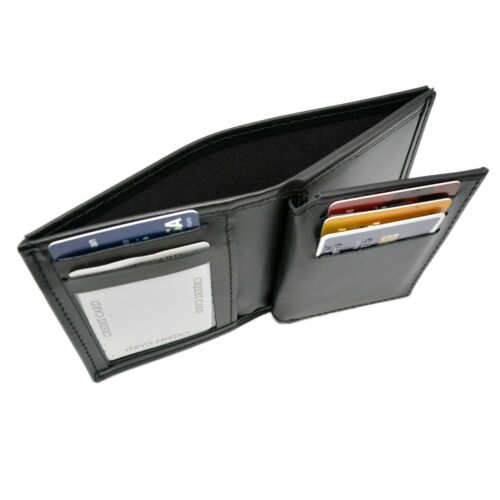 Perfect Fit Ohio Sheriff Badge Wallet Bi-Fold Top Banner Black Leather 5 PT Star