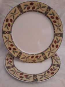 SET-OF-2-SANGO-3018-MESA-PATTERN-10-3-4-034-DINNER-PLATES-NEW-WITH-TAGS