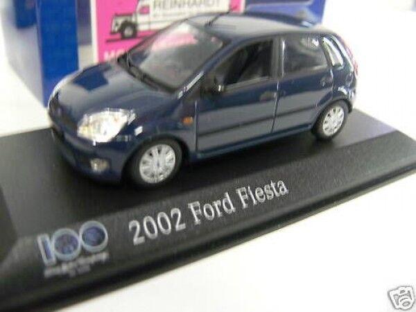 1 43 Minichamps Ford Fiesta Fiesta Fiesta 2002 4türig dunkelbluemet. 96ab8c