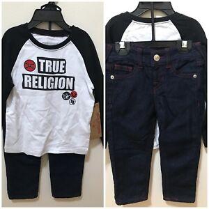 1f11c4ed9 True Religion Baby Boys White Size 24M 2-Piece Raglan Tee & Jeans ...