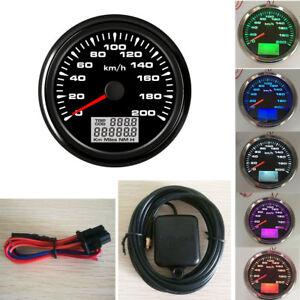 85mm-GPS-Speedometer-Gauge-200-KM-H-Odometer-For-Boat-Car-Truck-Motorcycle-ATV