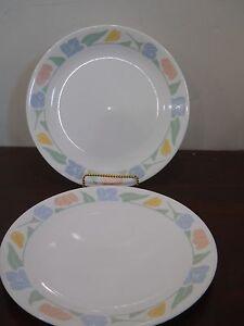 CORELLE DINNERWARE FRIENDSHIP PATTERN 2 DINNER PLATES   eBay