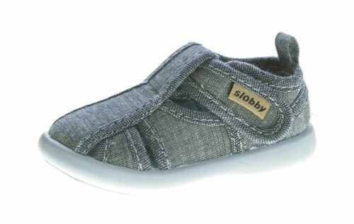Kinder Sandalette geschlossen Junge Mädchen Freizeit Stoff Schuh 19-24
