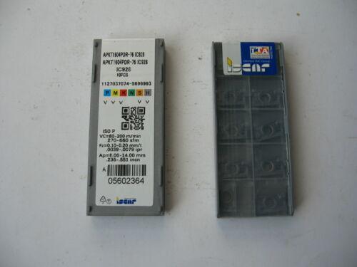 50 pcs ISCAR Carbide Inserts APKT 1003HM90 Grade IC908