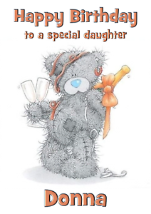 Me 2 You Personalised A5 Birthday Card Sister Daughter Niece Mum