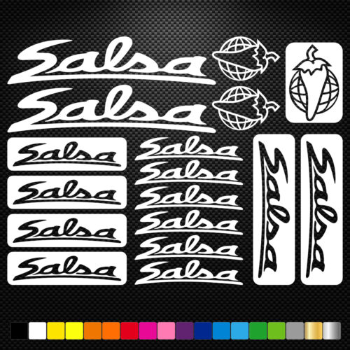compatible Salsa Cycles Vinyl Decals Stickers Sheet Bike Frame Cycling Bicycle