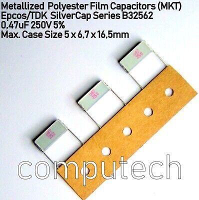 2 pezzi Condensatore 6,8uF 100V 10/% Film Poliestere MKT SilverCap Epcos//TDK