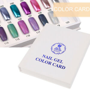 Details About Diy Nail Uv Gel Color Card Nail Tip Polish Display Chart Book Manicure 120 Color