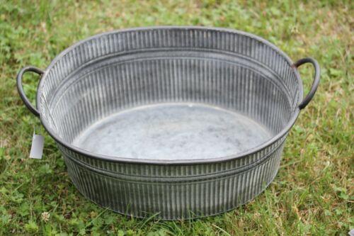 Wasserdeko u Zinkwanne♥wählbar 3 Größen♥Metallwanne mit Griffe♥Pflanz