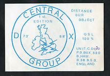 C1980s QSL Card: Central DX Group, Birmingham