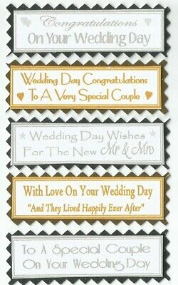 5 SISTER SISTER IN LAW or STEP SISTER Greeting Card Craft Sentiment Banners