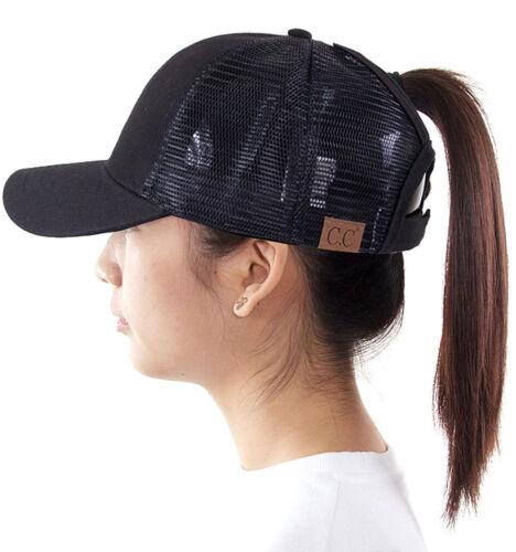 ScarvesMe C.C Trendy Exclusive Mesh Ponytail Messy Bun Ponycap Baseball Cap