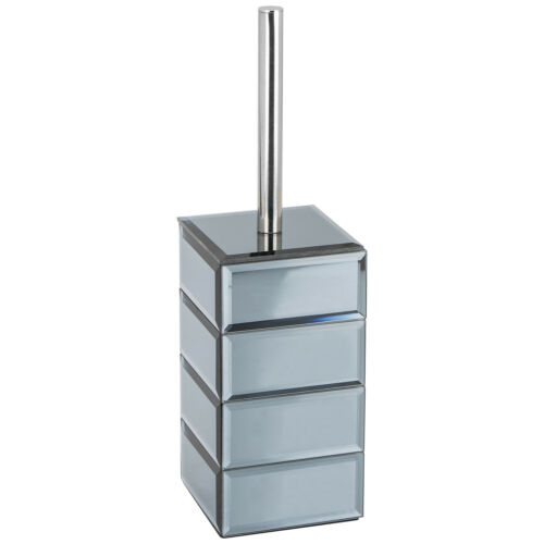 Élégant nouveau verre et gris design élégant Huxley Brosse De Toilette Support 39 cm