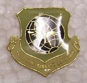 """Hat Lapel Push Tie Tac Pin USAF Military Air Lift Command NEW 1/"""" x 1/"""" smooth"""