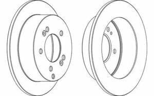 HYUNDAI TUCSON 2.0 TRACTION Set 2 disques de frein 4 plaquette de frein arrière essieu arrière