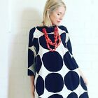 Marimekko Fabric Dress Tunic Black White Kivet