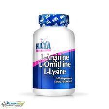 Haya Labs L-Arginine L-Ornithine L-Lysine 100caps Growth & Recovery Free P&P