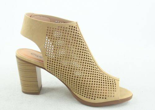 NEW Women/'s Cut Out Slingback Peep Toe Chunky High Heel Sandal Shoes Size 5-10