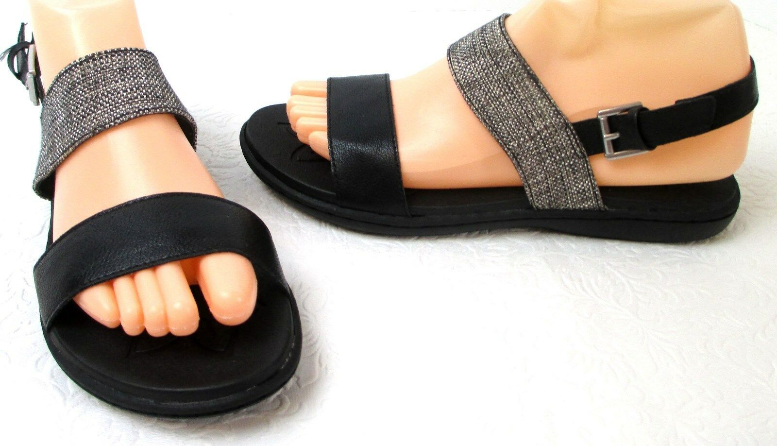 Women's B.O.C. Boyle Z10209 Black Weave Fabric Strappy Fashion Sandals