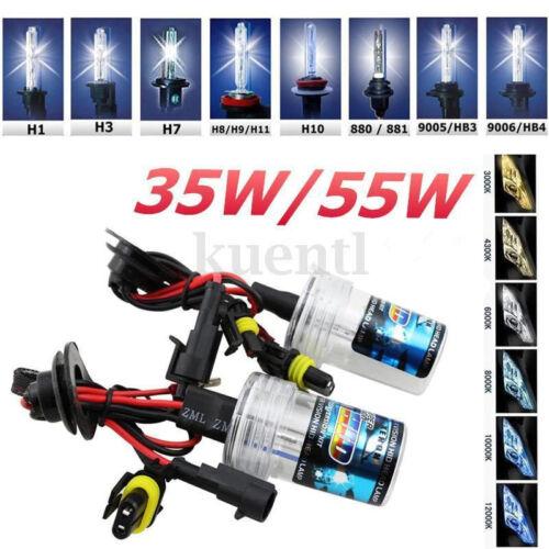 2x 35//55W H1 H3 H7 H8 H9 H10 H11 HID Xénon Ampoule Feux Slim Ballast Lampe 12V