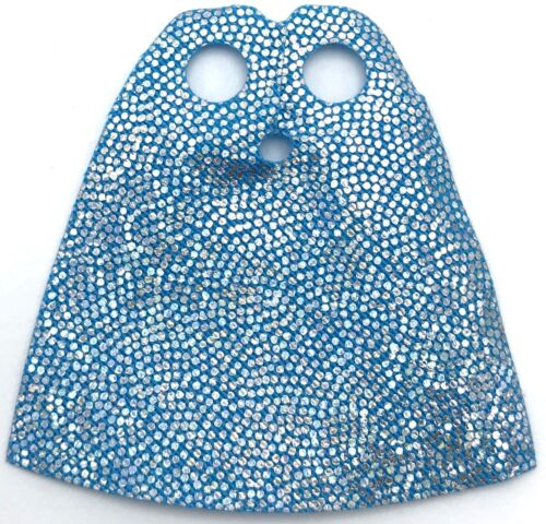 Lego New Dark Azure Minifigure Cape Cloth Standard with Iridescent Dots Pattern