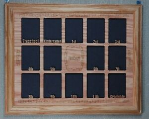 Image Is Loading School Years Photo Collage Oak Picture Frame With