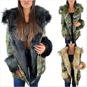 Camouflage-parka-senora-invierno-chaqueta-XXL-piel-sintetica-capucha-abrigo-fashion-blogueros