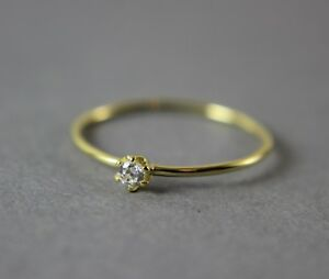 Yellow Gold Plated Sterling Silver Cubic Zirconia Extra Skinny Ring UK new - Cardiff, Cardiff, United Kingdom - Yellow Gold Plated Sterling Silver Cubic Zirconia Extra Skinny Ring UK new - Cardiff, Cardiff, United Kingdom