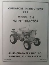 Allis Chalmers B 1 Garden Tractor Amp Snow Thrower Amp Plow Owner Amp Parts 3 Manuals