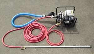 Portable Sealcoating Spray System With Honda Motor Koshin