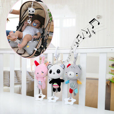 Baby Infant Rattles Plush Adorable Animal Hanging Bell Play Toys Doll Soft Bed
