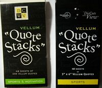 Sports Or Motivation Vellum quote Stacks Your Choice Word Phrases Dcwv