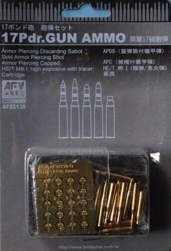 AFV CLUB 35138 Ammo for 17Pdr Gun in 1:35