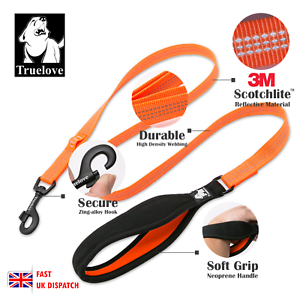 Truelove-Strong-Durable-Dog-Leash-Lead-Soft-Handle-Reflective-Training-4-5ft-NEW