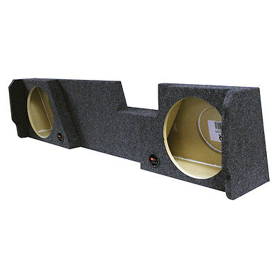 """Dual 12/"""" Subwoofer Sub Box Enclosure For 2004-06 GMC//Chevy Crew Cab Behind Seat"""