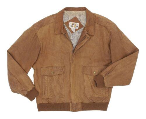 Vintage 80s H.R. Leather Flight Jacket M Medium Wo