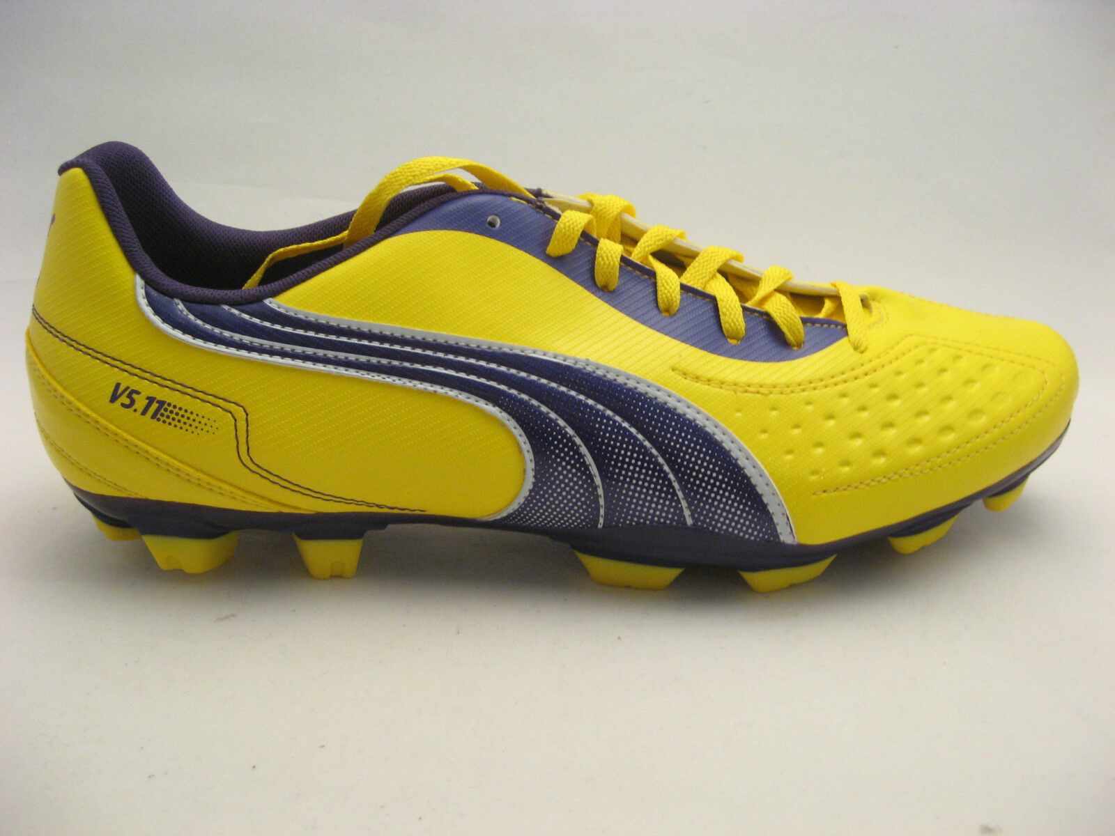 Puma Uomo Soccer Cleats 11.5 Vibrant Yellow V5.11 I FG Purple #102337 NEW Futbol