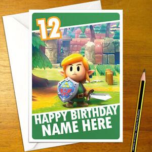 Link-039-s-Awakening-Personalizado-De-Cumpleanos-Tarjeta-Personalizado-Leyenda-Zelda-Link